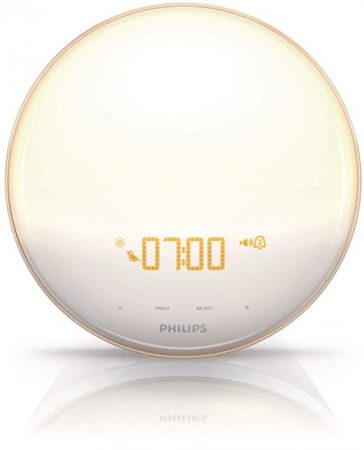 Wake-Up Light Alarm Clock with Colored Sunrise Simulation