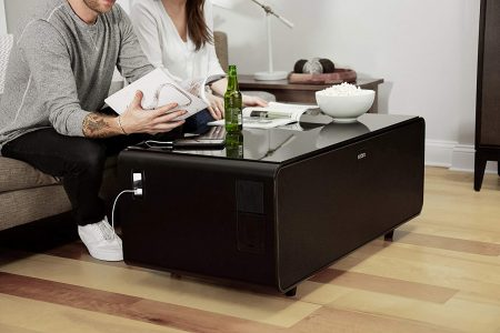 Sobro Coffee Table with Refrigerator