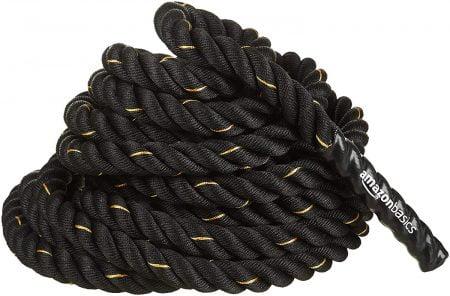 AmazonBasics Battle Exercise Training Rope, 1.5/2in Diameter, 30/40/50ft Length