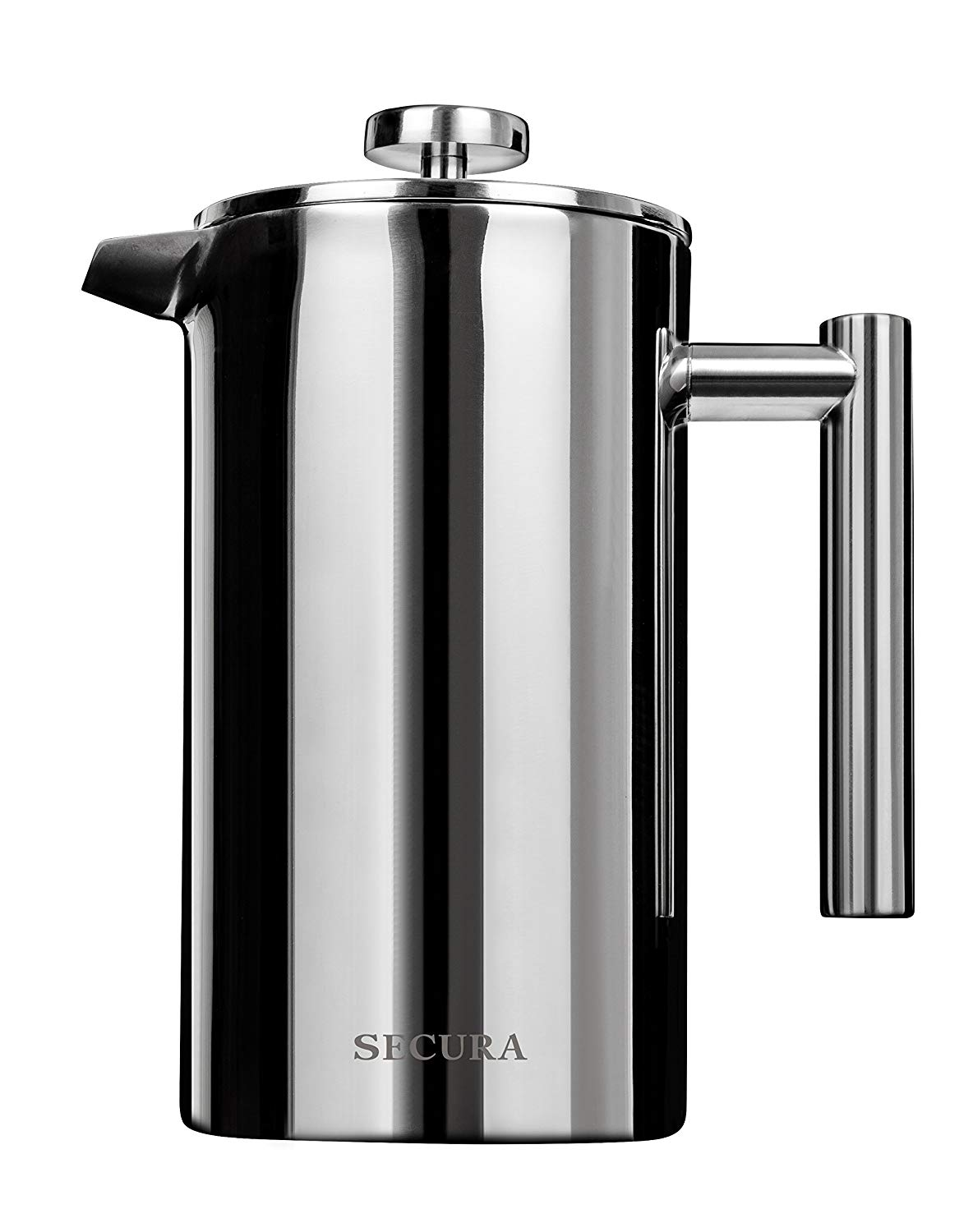 Secura Stainless Steel French Press Coffee Maker 18/10 Bonus Stainless Steel Screen (1000ML)