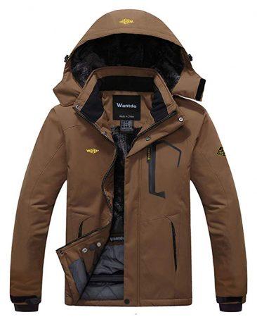 Wantdo Men's Mountain Waterproof Ski Jacket Windproof Rain Jacket