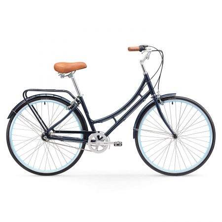 "sixthreezero Ride In The Park Women's 3-Speed Touring City Bike, 26"" Wheels 17"" Frame, Navy Blue, 17""/One Size"