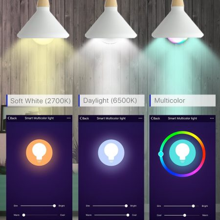 Smart WiFi Light Bulb with Alexa and Google Home Assistant