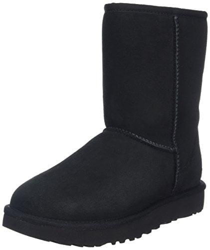 UGG Women's Classic Short II Winter Boot, Black, 8 B US