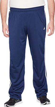 adidas Men's Big & Tall Essentials 3-Stripes Regular Fit Tricot Pants Collegiate Navy/White 1 Medium 34 Tall 34