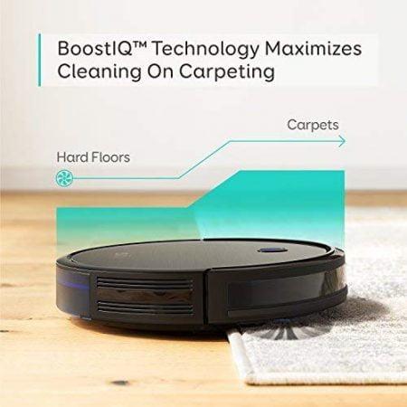 Strong Suction, Super Quiet, Self-Charging Robotic Vacuum Cleaner, Cleans Hard Floors to Medium-Pile Carpets