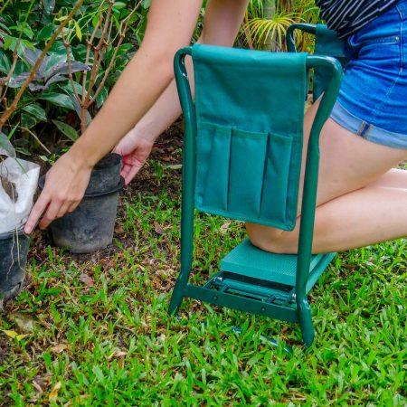Garden Kneeler and Seat with 2 Bonus Tool Pouches