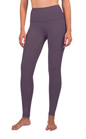 90 Degree By Reflex - High Waist Power Flex Legging – Tummy Control - Lavender Mist - Large