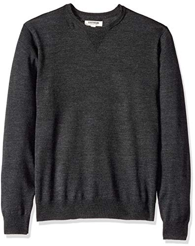 Goodthreads Men's Merino Wool Crewneck Sweater, Charcoal, Large
