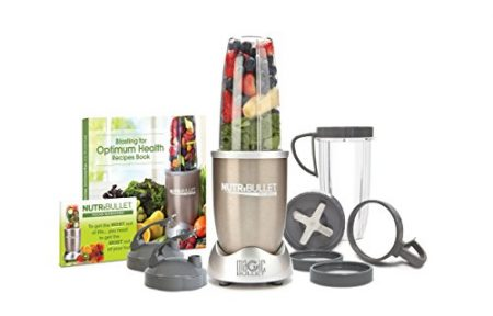 NutriBullet Pro - 13-Piece High-Speed Blender/Mixer System with Hardcover Recipe Book Included (900 Watts)