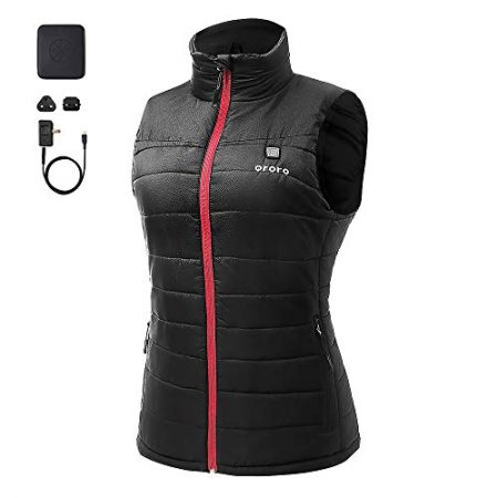 ORORO Women's Lightweight Heated Vest with Battery Pack (Small)