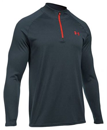 Under Armour Men's Tech 1/4 Zip, Stealth Gray (014)/Phoenix Fire, X-Large