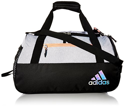 adidas Women's Squad III Duffel Bag, One Size, White Grip/Black/Lucid Red