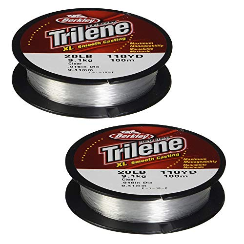 Berkley Trilene XL Smooth Casting Monofilament Service Spools (XLFS14-15), 330-Yard Spool - Clear (2 Pack)