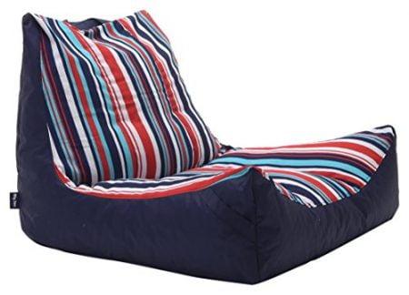 Big Joe 2180923 Fiesta Cozumel Stripe Bean Bag, Multicolor Captain's Float