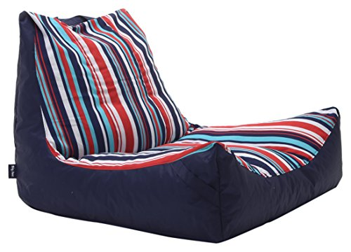 Big Joe 2180923 Fiesta Cozumel Stripe Bean Bag, Multicolor Captain's Float