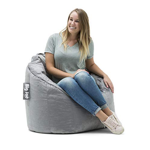 "Big Joe Milano Bean Bag Chair, Multiple Colors - 32"" x 28"" x 25"" - Gray Plush"