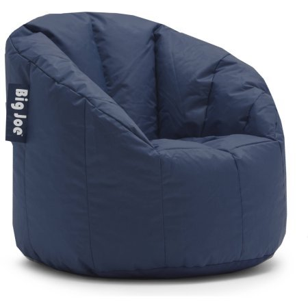 Big Joe Ultimate Comfort Milano Bean Bag Chair with Ultimax Beans in Great for Any Room in Multiple Colors (Navy) (Navy) (Navy)