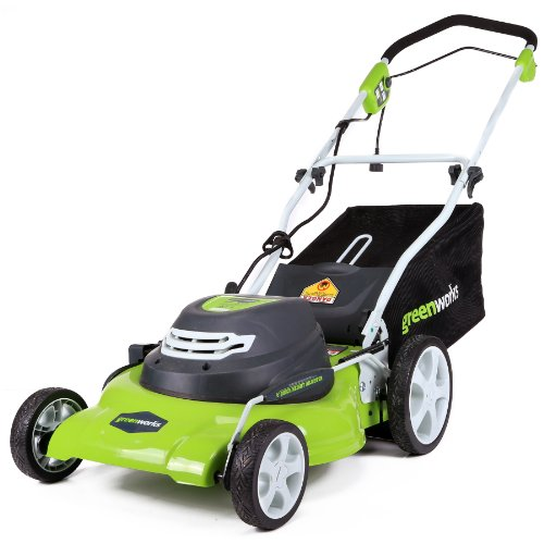 GreenWorks 20-Inch 12 Amp Corded Lawn Mower 25022, 20 inch