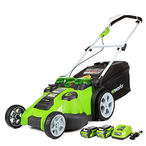 Greenworks 20-Inch 40V Twin Force Cordless Lawn Mower, 4.0 AH & 2.0 AH Batteries Included 25302