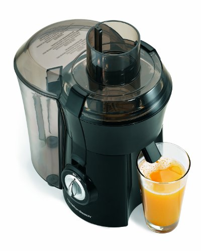 "Hamilton Beach Juicer Machine, Big Mouth 3"" Feed Chute, Easy to to Clean, 800 Watts, Black (67601A),"