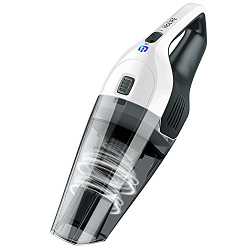 Holife Handheld Vacuum Cordless, Hand Vacuum Cleaner Rechargeable Hand Vac, Quick Charge, Lightweight Wet Dry Vacuum for Home Pet Hair Car Cleaning (Upgraded Version) (Grey)