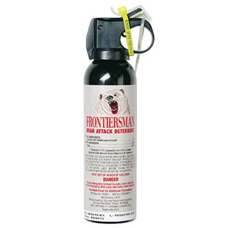 SABRE Frontiersman Bear Spray (9.2 oz & 7.9 oz with Holster & Multi-Pack Options) — Maximum Strength, Maximum Range & Greatest Protective Barrier Per Burst! — Effective Against All Types of Bears
