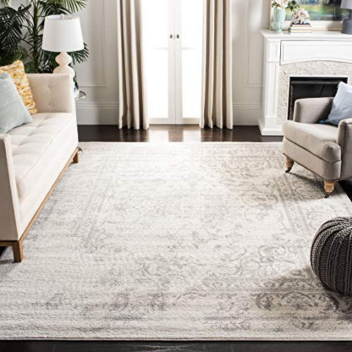 Safavieh Adirondack Collection Oriental Vintage Distressed Area Rug, 6' x 9', Ivory/Silver
