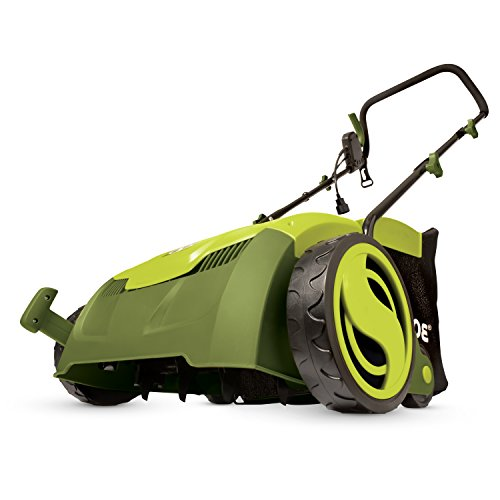 "Sun Joe AJ801E 12 Amp 12.6"" Electric Scarifier Plus Lawn Dethatcher with Collection Bag"