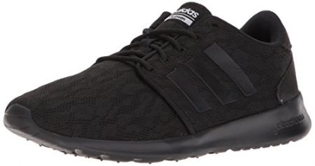 adidas Women's CF QT Racer W Sneaker, Core Black, Core Black, Ftwr White, 5 M US
