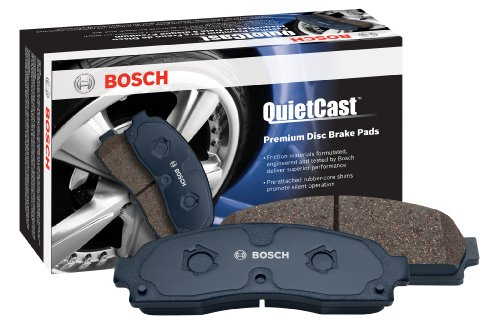 Bosch BC1406 QuietCast Premium Ceramic Disc Brake Pad Set For Mercedes-Benz: 2013-15 GLK250, 2010-15 GLK350; Front