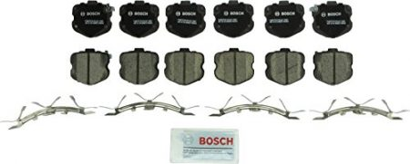 Bosch BC1419 QuietCast Premium Ceramic Disc Brake Pad Set For 2006-2013 Chevrolet Corvette; Front