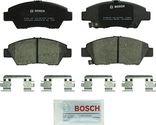 Bosch BC1394 QuietCast Premium Ceramic Disc Brake Pad Set For Honda: 2011-2016 CR-Z, 2009-2017 Fit; Front