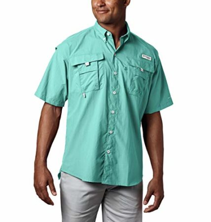 Columbia Men's PFG Bahama II Short Sleeve Shirt, Gulf Stream, 4XT