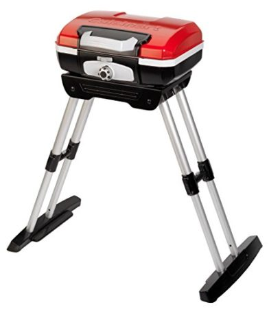 Cuisinart CGG-180 Petit Gourmet Portable Gas Grill with VersaStand, Red