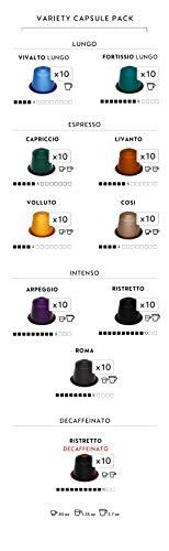 Nespresso OriginalLine Espresso Capsules Variety Pack, 100 Count