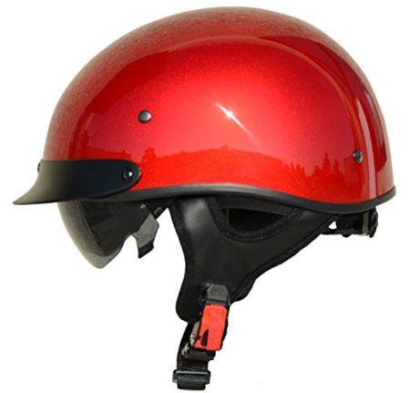 Vega Helmets Unisex-Adult Half Helmet (Velocity Red, Large)