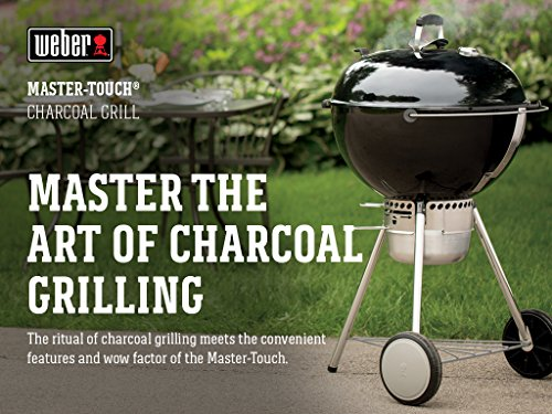 Weber 14501001 Master-Touch Charcoal Grill, 22-Inch, Black
