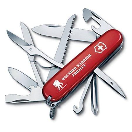 Victorinox Swiss Army Multi-Tool, Fieldmaster Pocket Knife, Red
